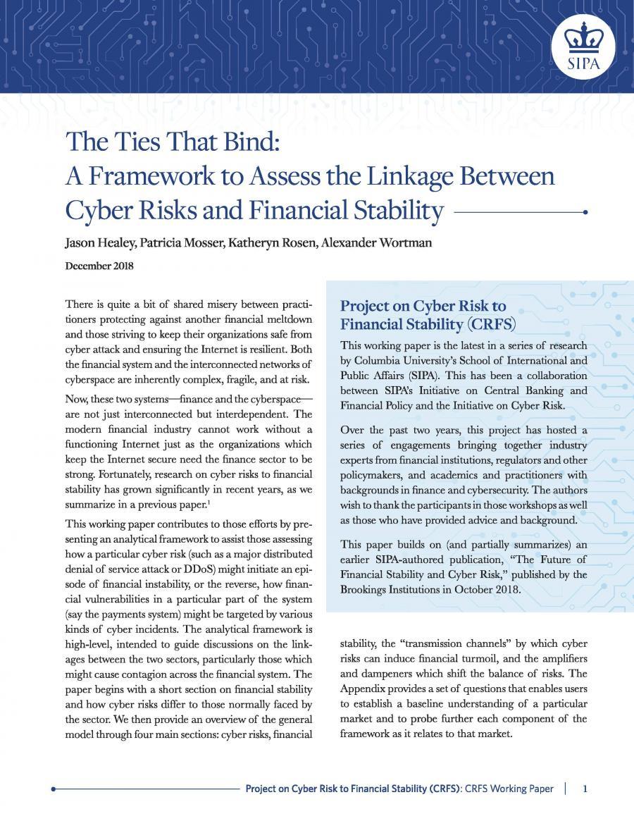 Cyber Risk to Financial Stability