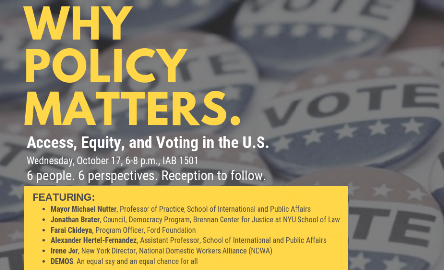Panel on Why Policy Matters - Access, Equity, and Voting in the U.S.