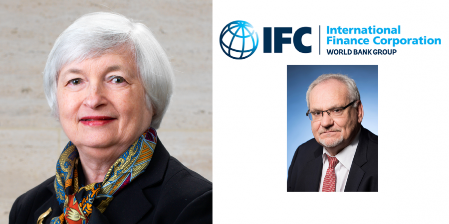 Janet L. Yellen and IFC CEO Philippe Le Houérou