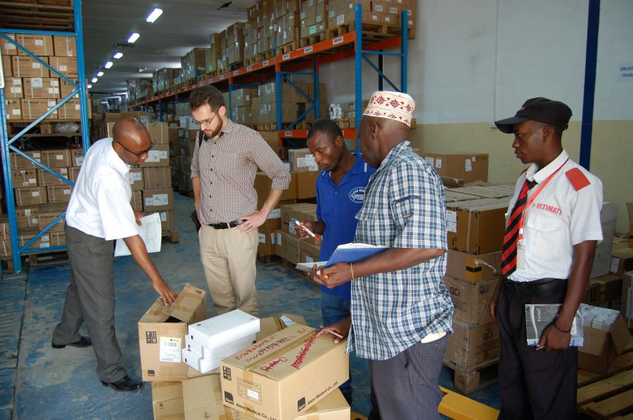 Workshop Team working with Booz Allen Hamilton in Tanzania