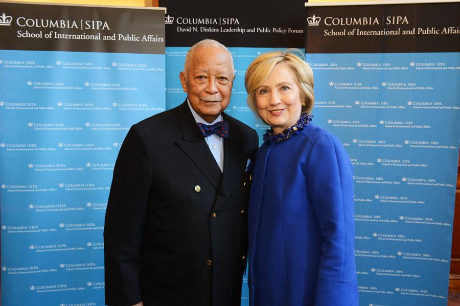 Dinkins and Hillary