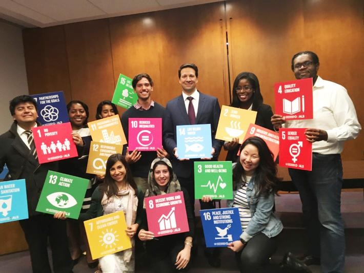 In April 2016, Camille Gray MPA '17, took a photo with her classmates after an event on Innovation at the UN organized by two student groups, UNSWG and TISA.