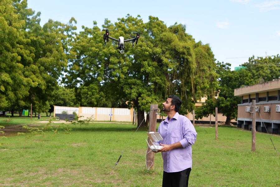 Capstone Workshops - World Bank Adi Subramanian pilot a drone
