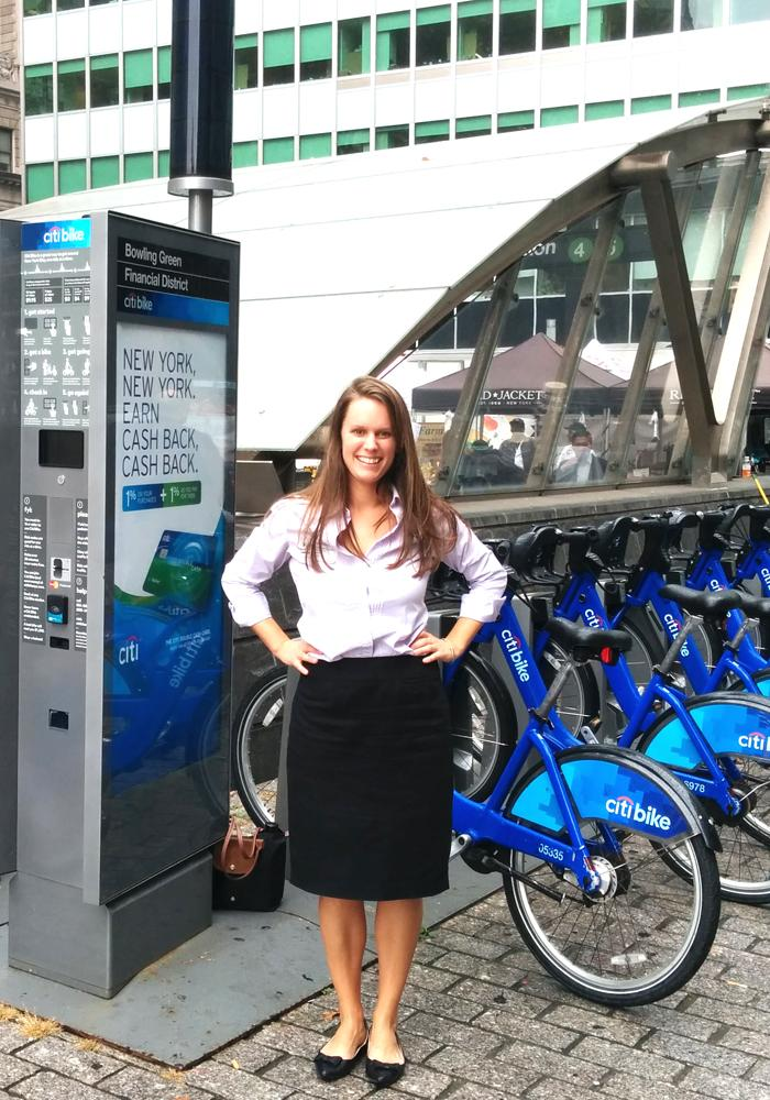 Kayleigh Campbell, PhD '17 - Bikesharing research