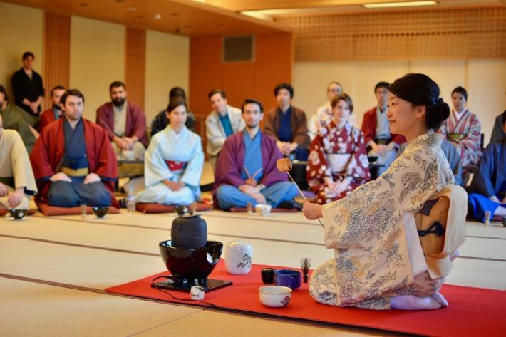 Students traveled oversees to Japan and participated in a tea ceremony
