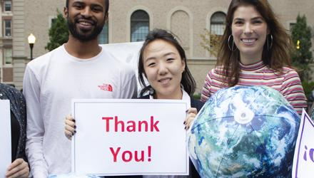 SIPA Students Thank You Sign