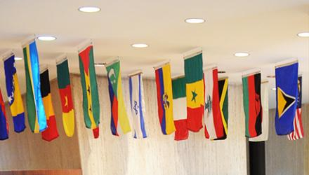 Flags at SIPA