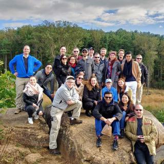"""On October 13, Professor Stephen Biddle led students in SIPA's International Security Policy concentration on a """"staff ride"""" of the Civil War battlefield at Gettysburg."""