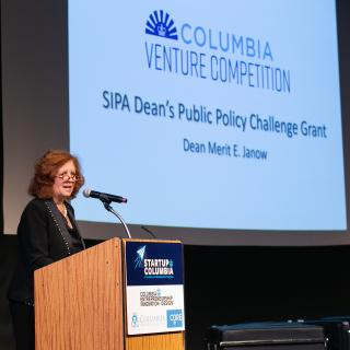 SIPA Columbia Venture Competition Speaker Dean Merit Janow